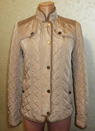 Куртка orsay стеганая демисезон на стройную девушку