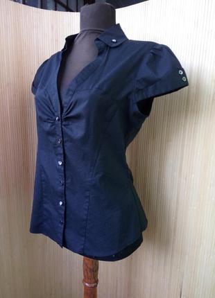 Черная блуза   tally weijl с пуговицами сердечками