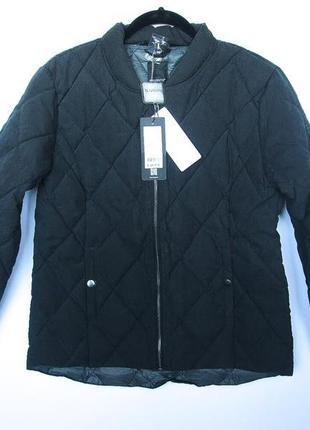 Чёрный демисезонный стёганный пуховик, куртка b.young!дания 🇩🇰 размер l
