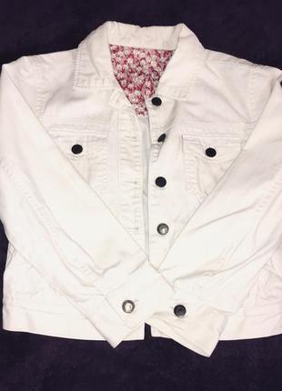 Женская джинсовая куртка, короткая белая джинсовка, легкая курточка