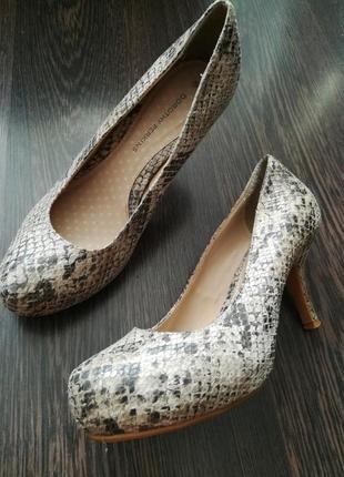 Туфли тренд змеиный принт