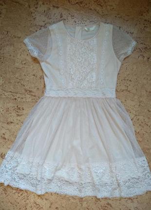 Нежное кружевное платье2 фото
