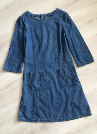 Джинсовое платье рубашка edc