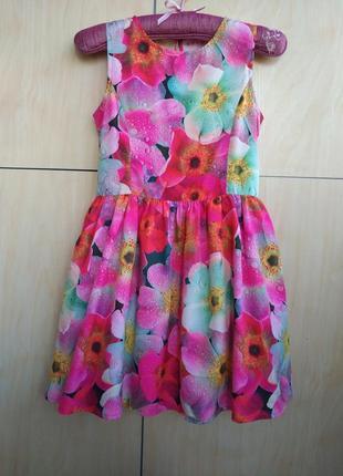 Красочное платье nutmeg на 9-10 лет