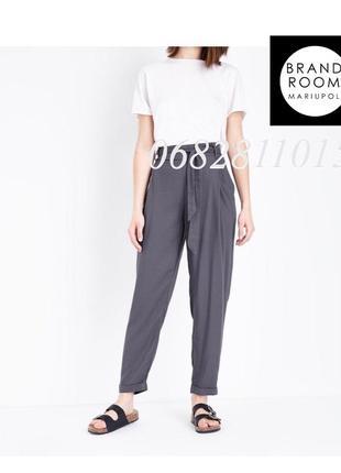 Стильные брюки из вискозы с поясом, свободные штаны зауженные