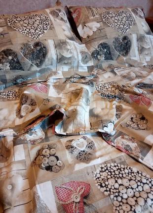 Комплект постельного белья двуспалка бязь голд