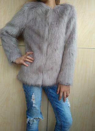 Демисезонная меховая куртка matalan на 10-11 лет