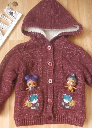 Фирменную кофту куртка nut mag малышке 1 -1,5 года состояние новой.