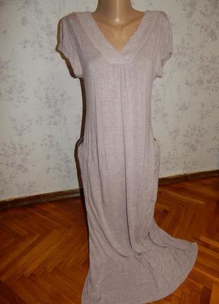 John lewis ночнушка вискозная, домашнее платьеце р12 длинная