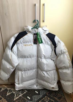 Куртка пуховик дутая зимняя тёплая новая royal мужская белая синтапон l