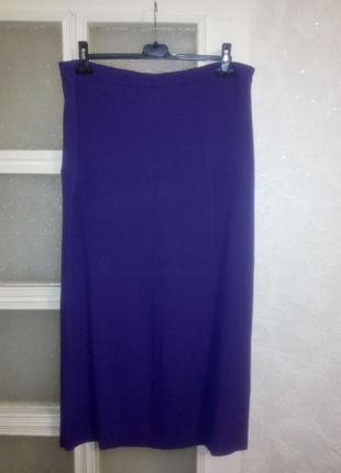 Длинная юбка-резинка вискоза фиолетового цвета 18-20