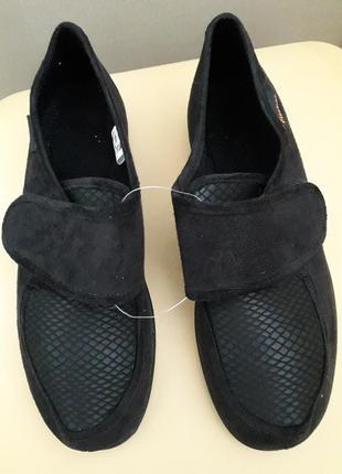 40, 5 р. новые ортопедические туфли полу ботинки туфли балетки из текстиля