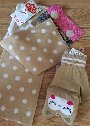 Набор шарф и перчатки5