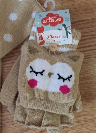 Набор шарф и перчатки4