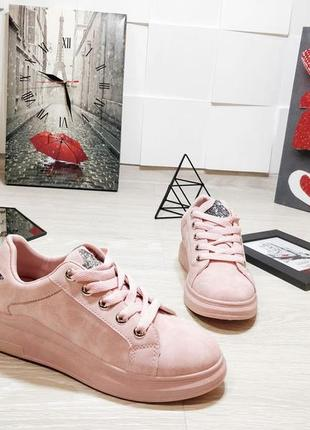Стильные розовые кеды со звездой хит сезона