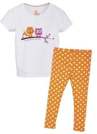 Пижама для девочки из органического хлопка от lupilu. германия.