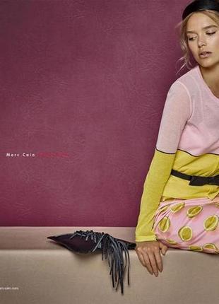 Marc cain шикарная юбка на подкладе в лимонный принт хл