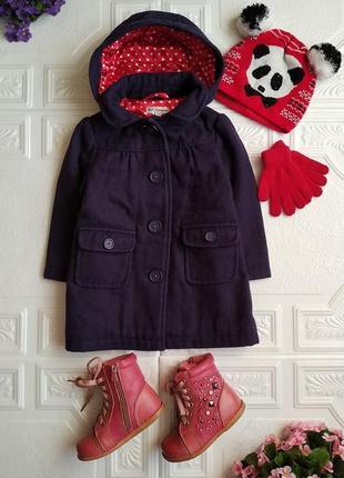 Пакет фирменных вещей (пальто, ботинки, шапка и перчатки)