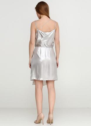 Платье металлик на тонких бретелях h&m2