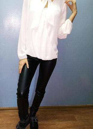 Рубашка,молочно белая,легкая