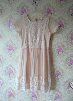 Нежное кружевное платье1 фото