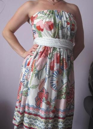 Красивое платье из натуральной ткани