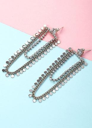 Стильные серьги цепочки, смотрите больше бижутерии в моих объявлениях