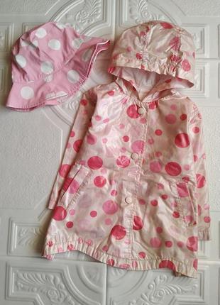 Пакет фирменных вещей (пальто, дождевик, шапка, шарф, варежки и шляпка)4 фото