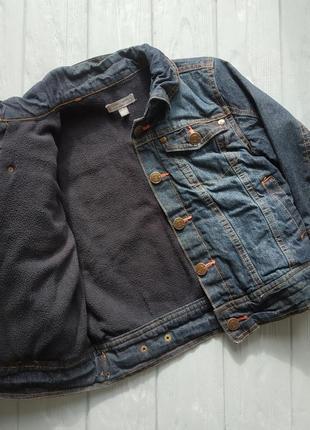 Джинсовая куртка на флисе на мальчика 4-5 лет