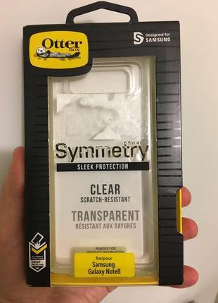 Чехол бронированый  otterbox symmetry clear для samsung note 8 оригинал новый
