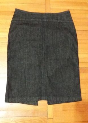 Базовая юбка-карандаш из темно-синего денима от drykorn for beutiful people размер