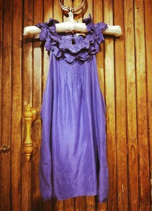 Блузка натуральный шёлк с бантом воротник рюши стойка ted baker