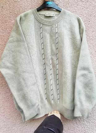 Мужской шерстяной тёплый свитер джемпер