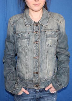 Джинсовая трендовая куртка, бренд no name, размер m