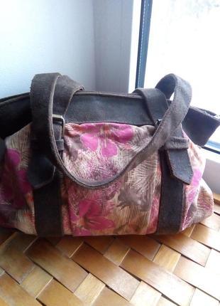 Натуральная сумка в стиле бохо