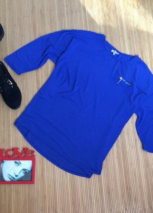 Ультрамариновая блуза, размер xxxl