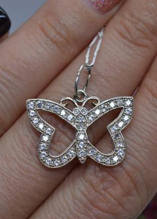Серебряный #подвес, #підвісок, #бабочка, #метелик, #камни, #925