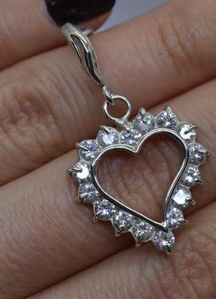 Серебряный #подвес, #підвісок, #сердечко, #сердце, #любовь, #камни, #925