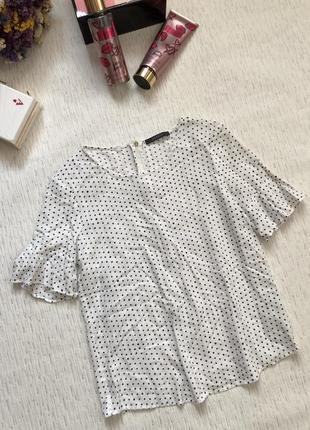 Esprit 100 % вискоза блуза - топ в горошек