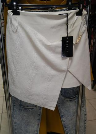 Стильная юбка с эко кожи от польского бренда mohito
