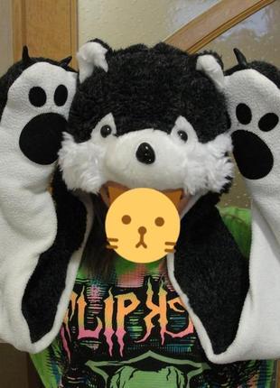 Шапка шарф з рукавичками з прикольною мордочкою