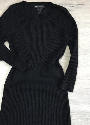 Чёрное платье а рубчик