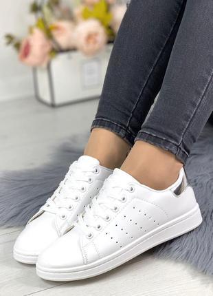 Женские белые кроссовки кеды р 36-41