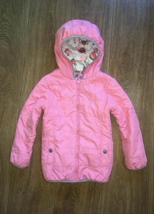 Двусторонняя деми куртка m&s, указано 6-7 лет