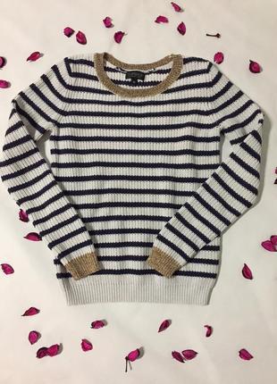Полосатый свитерок от бренда topshop
