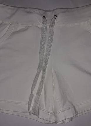 Трикотажные белые шорты из органического хлопка тсм чибо германия размер