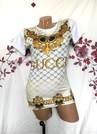 Футболка в стиле gucci - распродажа 🔥 много брендовой одежды!