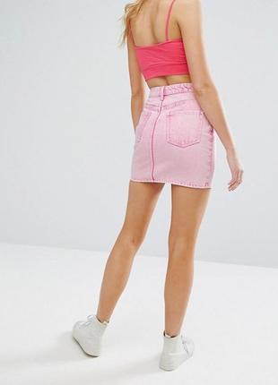 Шикарная джинсовая юбка с высокой талией