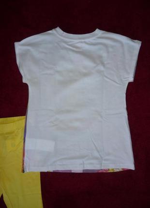 Костюм футболка и леггинсы chicco р.110, 128 - 5 и 8 лет для девочки. новый3 фото