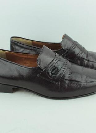 Шикарные кожаные туфли lancio made in italy размер 43 27.5см